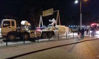 Maré de betão encerrou Avenida da Ponte da Amizade durante quatro horas (c/video)